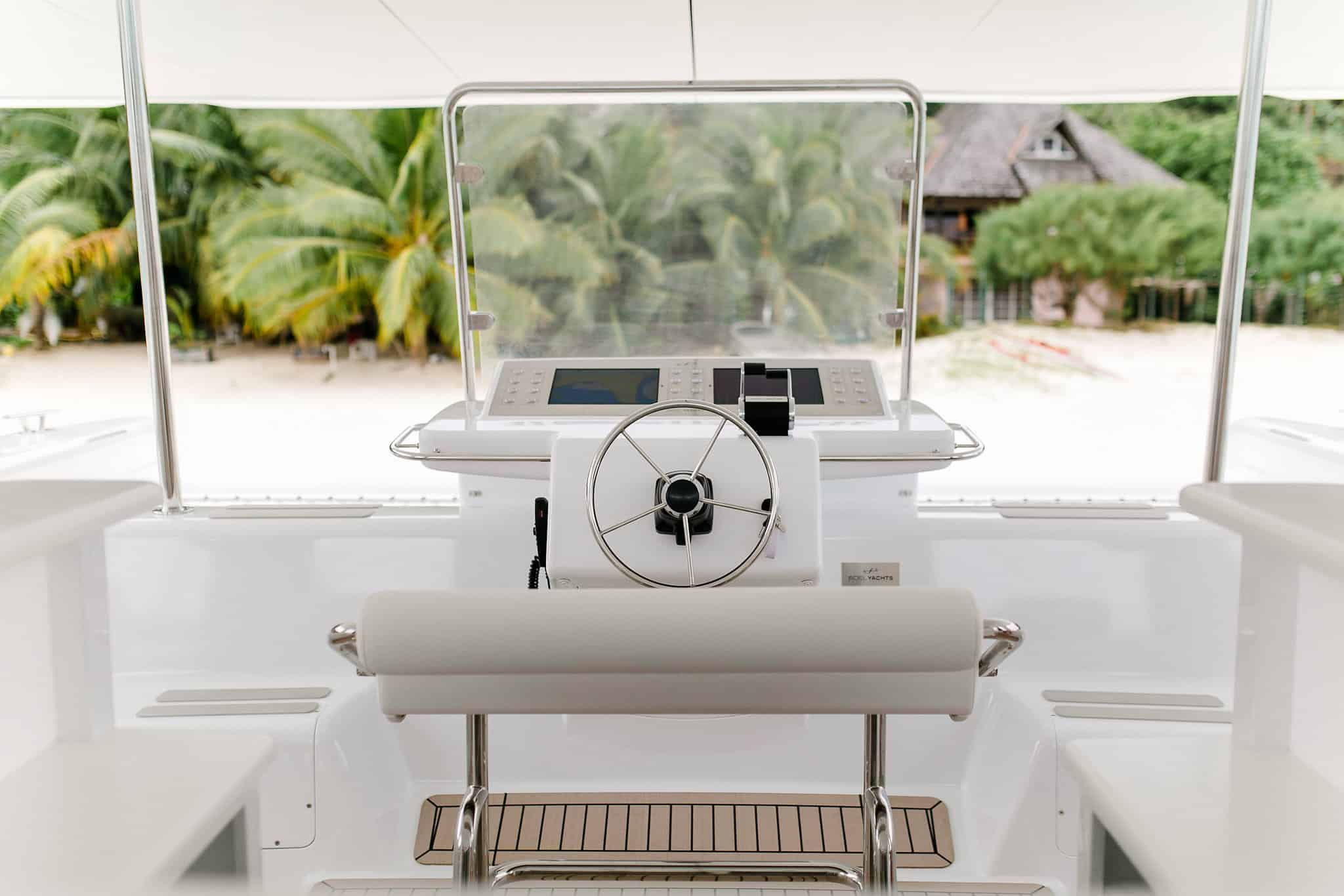 The electric catamaran from Soel Yachts can be controlled with iPads
