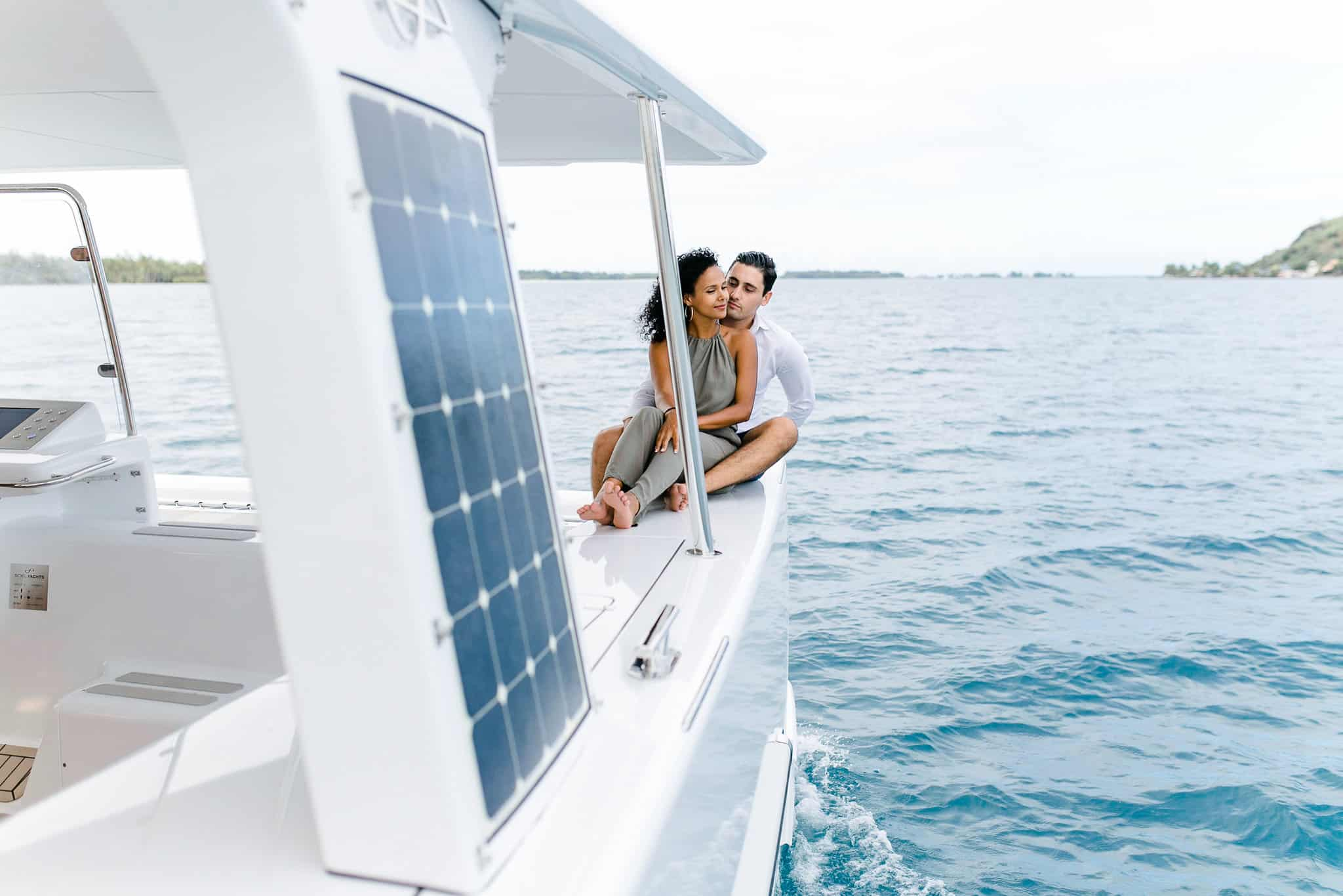 Enjoy a sustainable ride, with no noise involved on board of the first solar electric catamaran from Soel Yachts