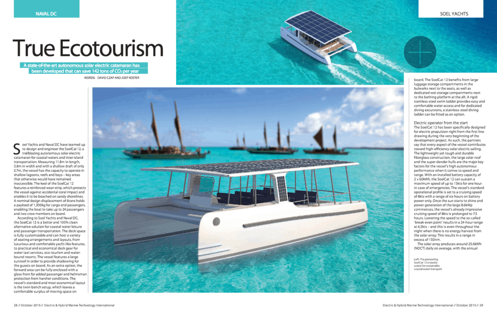 A solar catamaran to be fully autonomous on the water - the SoelCat 12 - sustainable solar boat.