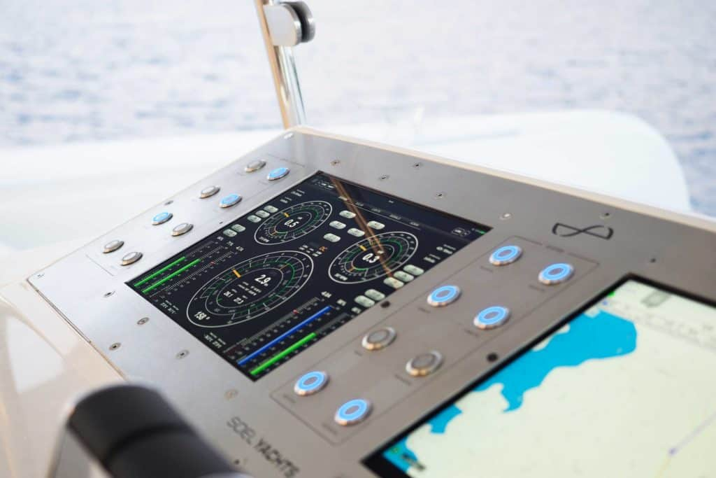 User interface on board the solar electric boat SoelCat12
