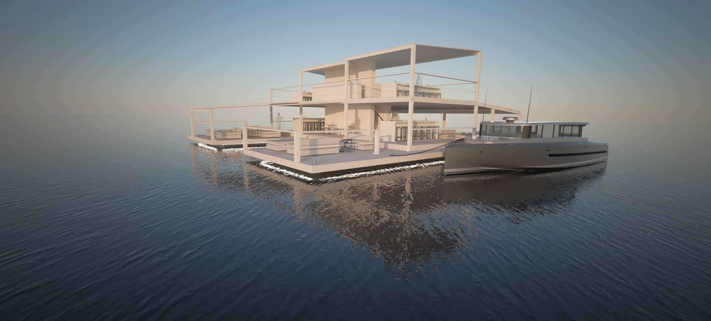 Solar electric bar to charge electric boats