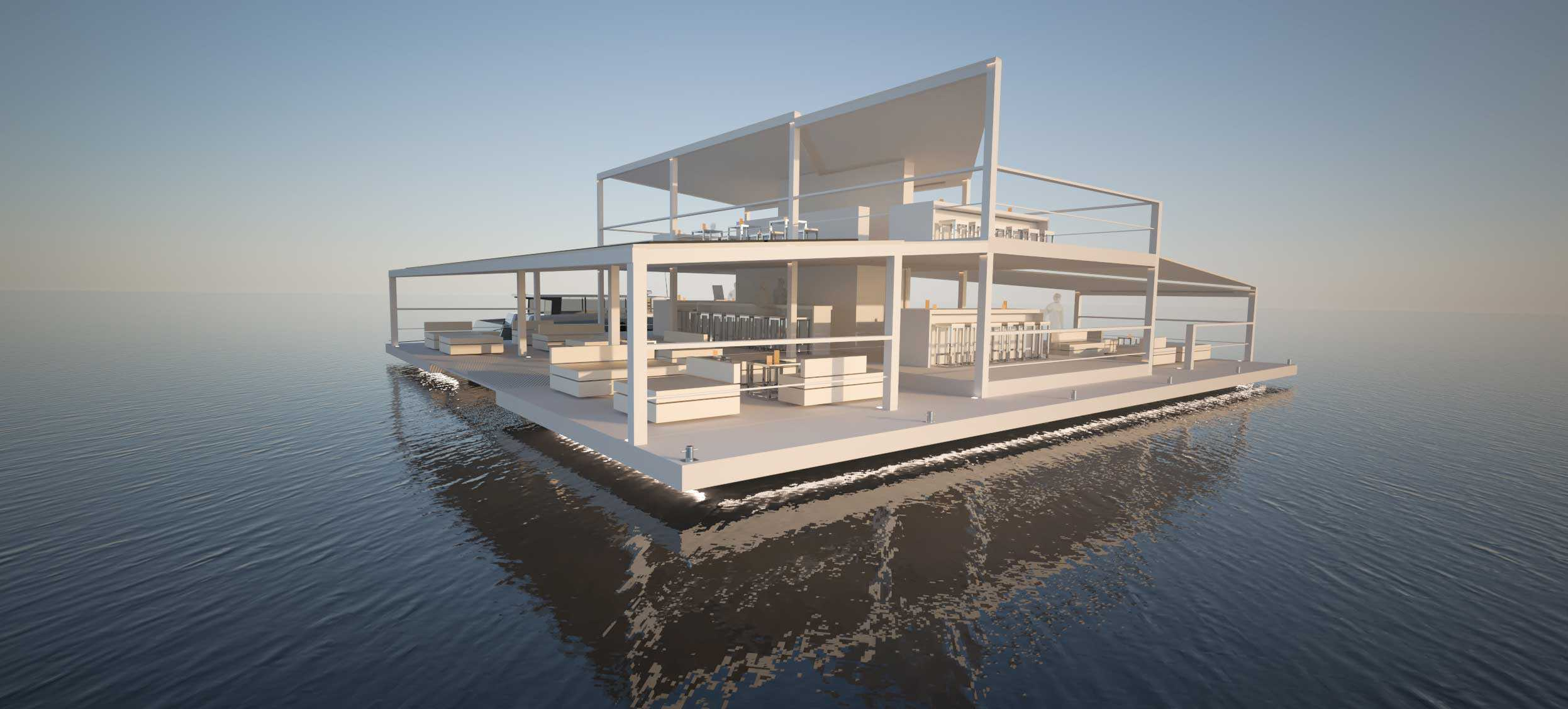Solar electric bar by Soel Yachts