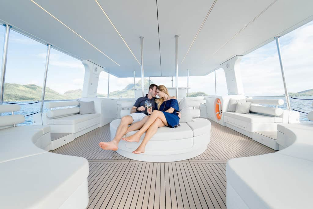 Enjoy an emission free tour on board the first solar electric catamaran in Bora Bora from Soel Yachts