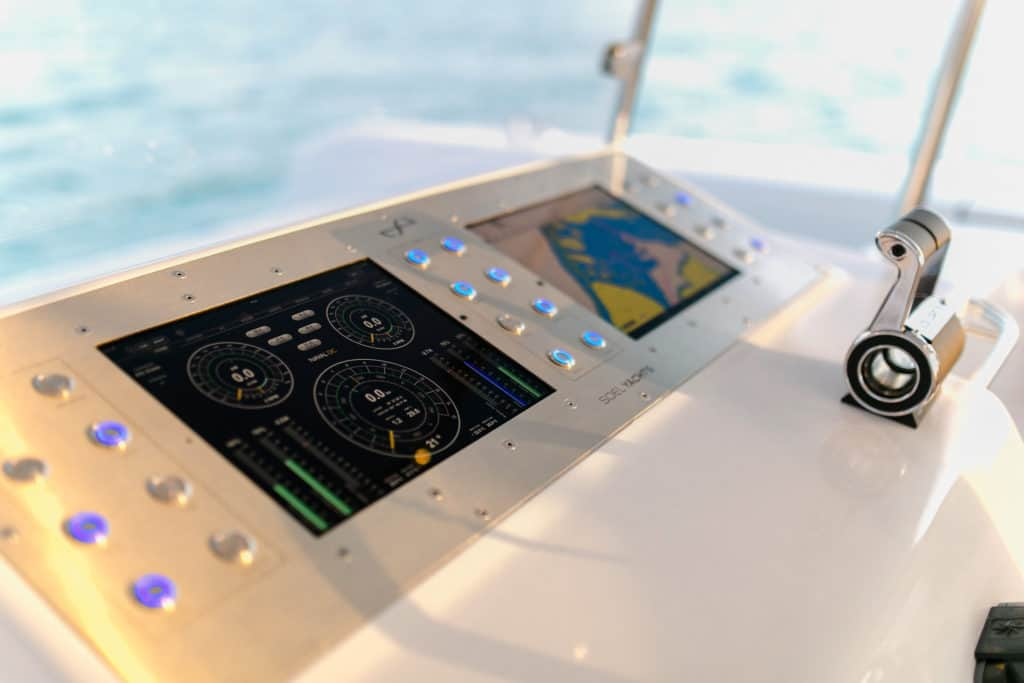 Two iPad's to control the solar electric catamaran: the SoelCat 12 by Soel Yachts