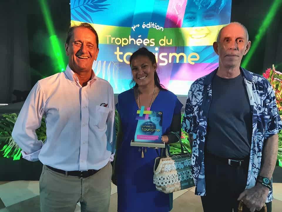 Tourism award for the solar electric catamaran from Soel Yachts for the Bora Bora Pearl Beach Resort