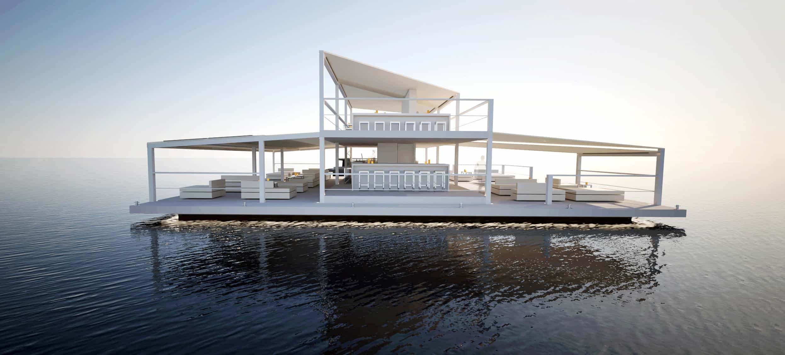 Floating bar by Soel Yachts