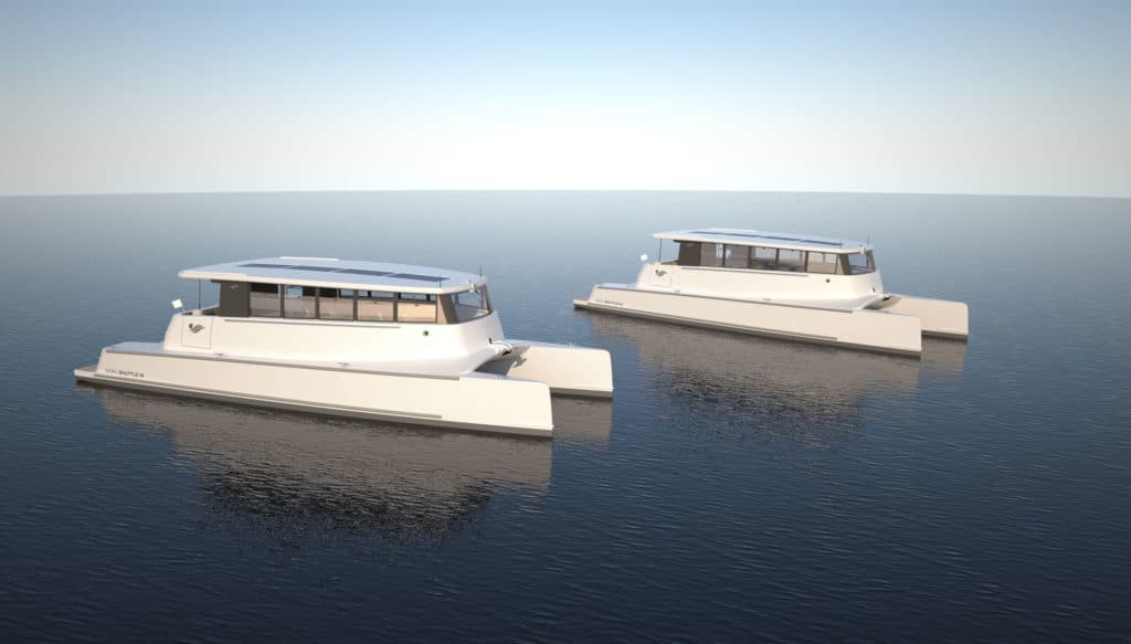 Solar electric boat by Soel Yachts