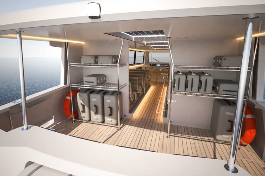 Solar powered electric ferry by Soel Yachts
