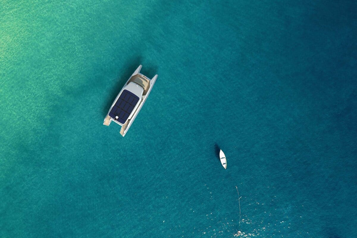 Enjoy the sea on solar yacht