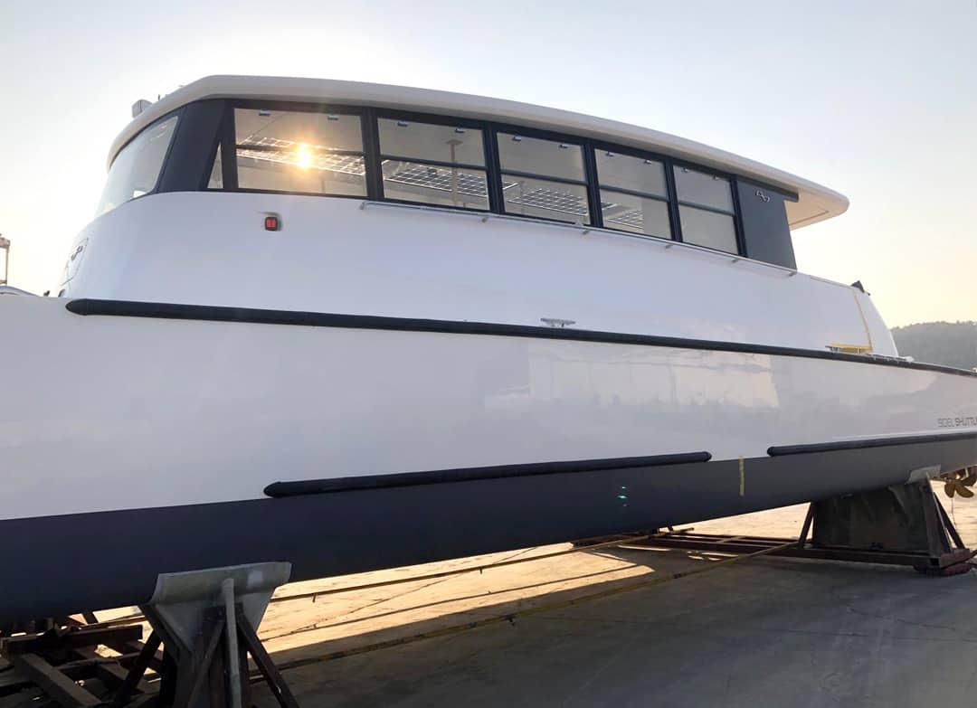 Electric catamaran production
